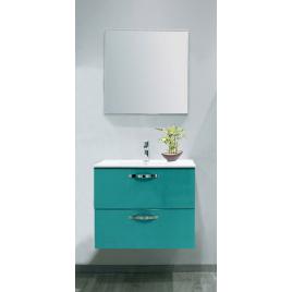 Façade de meuble de salle bain Mixy vert d'eau 80 cm 2 pièces