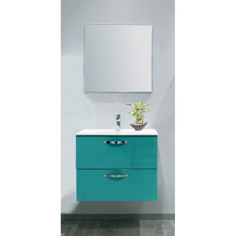 Façade de meuble de salle bain Mixy vert d\'eau 80 cm 2 pièces - Mr.Bricolage