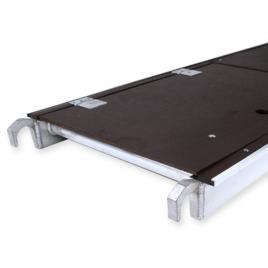 Plancher d'échafaudage avec trappe 1,9 x 0,65 cm