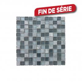 Carrelage mosaïque gris Tuscany 30 x 30 cm