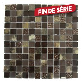 Carrelage mosaïque gris Tuscany 30 x 30 cm 10 pièces
