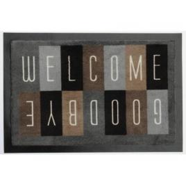 Paillasson anti salissant déco Damier Welcome 40 x 60 cm ADVOTEX