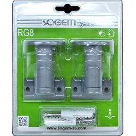 Support ajustable pour main courante Rondo grise RG3 2 pièces SOGEM