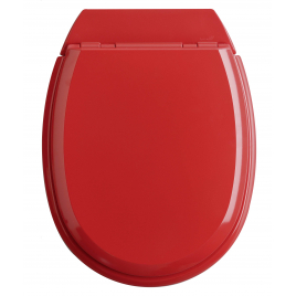 Abattant de toilette Atlas 2 en bois compressé rouge ALLIBERT