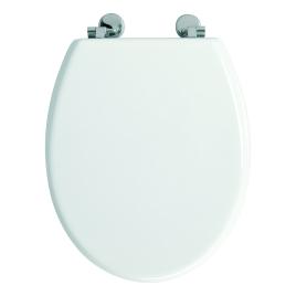 Abattant de toilette Bolivia en bois compressé blanc ALLIBERT