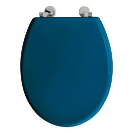 Abattant de toilette Bolivia en bois compressé laqué bleu canard ALLIBERT