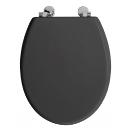 Abattant de toilette Bolivia en bois compressé gris ALLIBERT