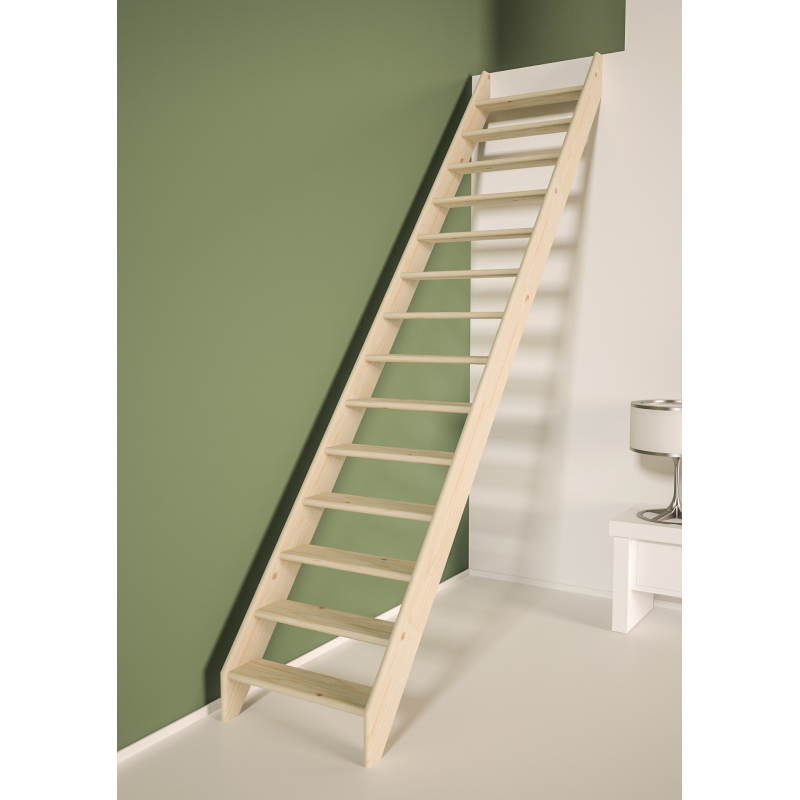Escalier De Meunier En Bois Cottage Medium 300 X 70 Cm Sogem Mr Bricolage