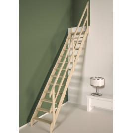 Escalier de meunier avec rampe en bois Cottage Junior 280 x 65 cm SOGEM