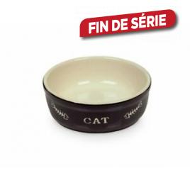 Gamelle noire en terre cuite pour chat Ø 13,5 cm