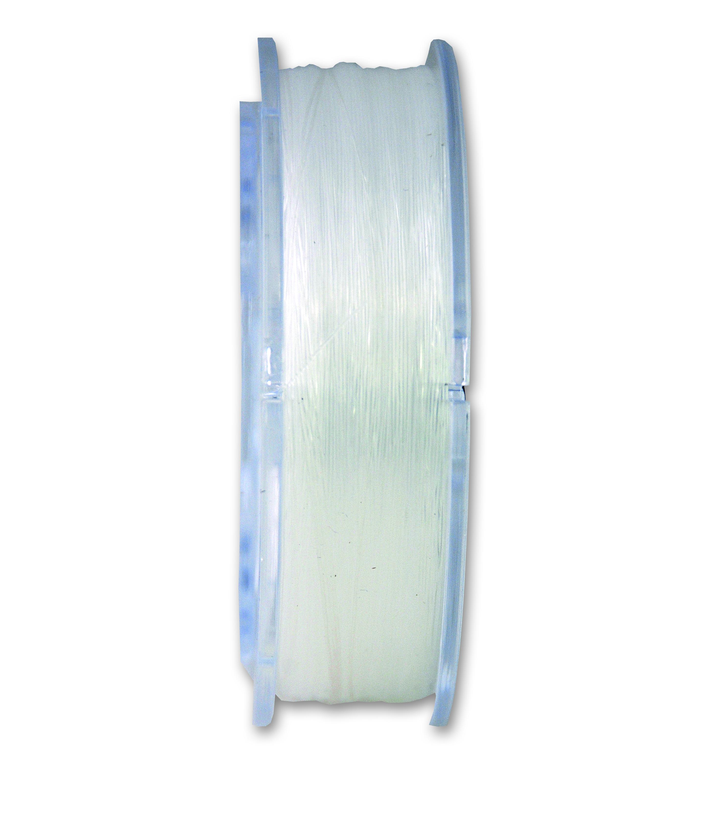15m 1mm Fil Nylon Tressé 1mm Blanc en Bobine de 15m Blanc