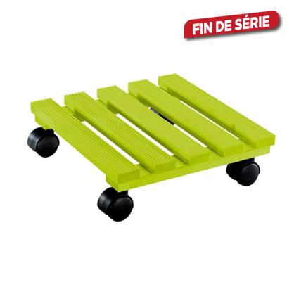 Porte-plante avec roulettes carré 30 x 30 cm vert WAGNER