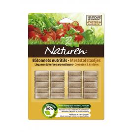 Bâtonnet d'engrais organique pour légumes et herbes aromatiques 20 pièces NATUREN