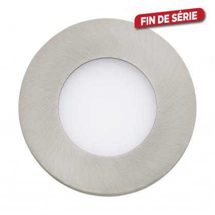 Spot encastrable nickel mat Fueva 1 LED Ø 8,5 cm 300 lm 2,7 W EGLO
