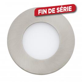Spot encastrable nickel mat Fueva 1 LED Ø 8,5 cm 360 lm 2,7 W EGLO
