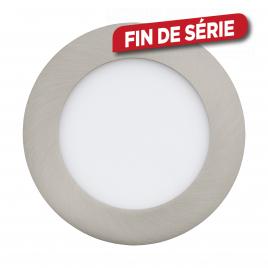 Spot encastrable nickelé mat Fueva 1 LED Ø 12 cm 600 lm 5,5 W EGLO