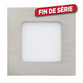 Spot encastrable nickelé mat Fueva 1 LED 8,5 x 8,5 cm 2,7 W 360 lm EGLO