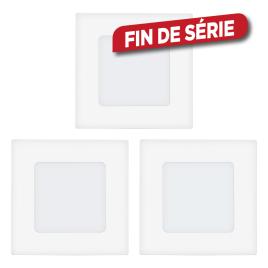 Spot encastrable blanc Fueva 1 LED 8,5 x 8,5 cm 2,7 W 3 pièces EGLO
