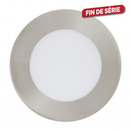 Spot encastrable nickelé mat Fueva 1 LED Ø 12 cm 600 lm 5,5 W dimmable EGLO