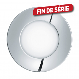 Spot encastrable étanche chromé Fueva 1 LED Ø 8,5 cm 360 lm 2,7 W EGLO