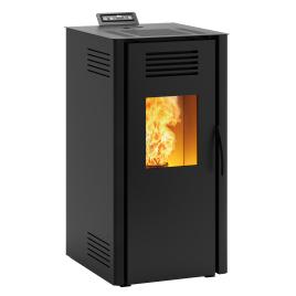 Poêle à pellets Vieste acier noir 7 kW INVICTA
