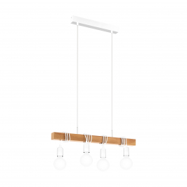Suspension blanche Townshend E27 240 W EGLO