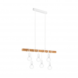 Suspension blanche Townshend E27 360 W EGLO