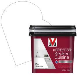 Peinture de rénovation pour cuisine Blanc satin 0,75 L V33