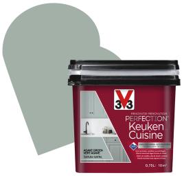 Peinture de rénovation pour cuisine Vert Agave satin 0,75 L V33