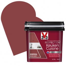 Peinture de rénovation pour cuisine Rouge Exquis satin 0,75 L V33