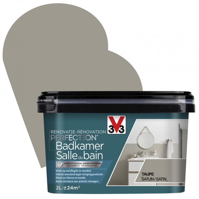 Peinture De Rénovation Pour Salle De Bain Taupe Satin 2 L V33 Mr Bricolage
