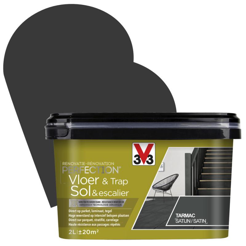 Peinture De Rénovation Pour Sol Et Escalier Tarmac Satin 2 L V33 Mr Bricolage