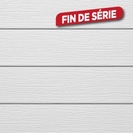 Lambris extérieur blanc en PVC 240 x 17 x 0,6 cm 6 pièces DUMACLIN