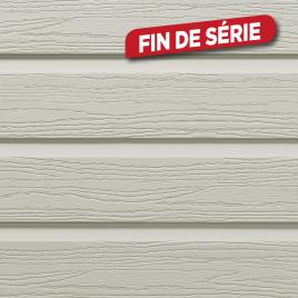 Lambris extérieur taupe en PVC 240 x 18,5 x 0,6 cm 6 pièces DUMAPLAST
