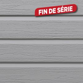 Lambris extérieur gris crème en PVC 240 x 17 x 0,6 cm 6 pièces DUMACLIN