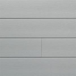 Lambris extérieur gris crème en PVC 240 x 18,5 x 0,6 cm 6 pièces DUMACLIN