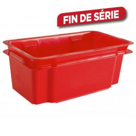 Bac de rangement empilable Crownest rouge 7 L CURVER