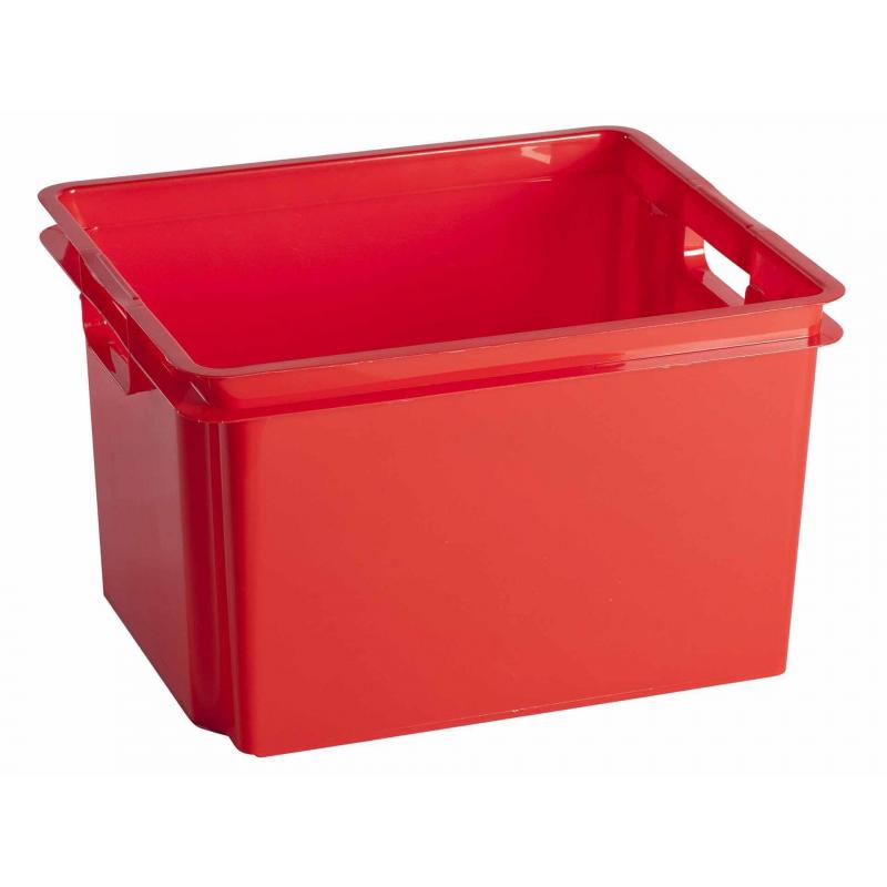 Bac De Rangement Empilable Crownest Rouge 30 L Curver