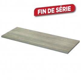 Panneau mélaminé Chêne Grisade 80 x 30 x 1,8 cm CANDO