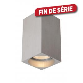 Spot carré chromé Delto LED GU10 5 W dimmable LUCIDE