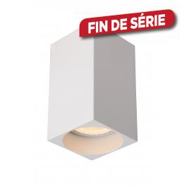 Spot carré blanc Delto LED GU10 5 W dimmable LUCIDE