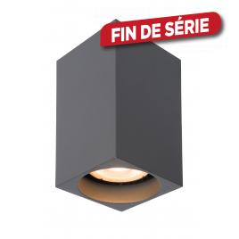Spot carré gris Delto LED GU10 5 W dimmable LUCIDE