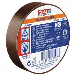 Ruban d'isolation électrique 20 m x 19 mm brun TESA