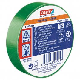 Ruban d'isolation électrique 20 m x 19 mm vert TESA