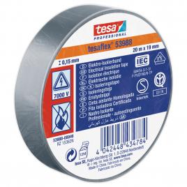 Ruban d'isolation électrique 20 m x 19 mm gris TESA