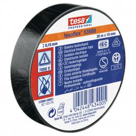Ruban d'isolation électrique 20 m x 19 mm noir TESA