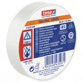Ruban d'isolation électrique 20 m x 19 mm blanc TESA