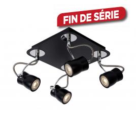 Spot noir Samba LED GU10 20 W dimmable LUCIDE