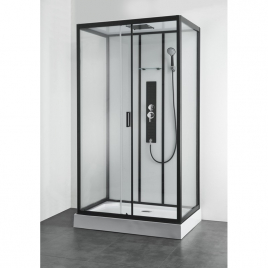 Cabine de douche Uyuni rectangle pour mur 120 x 80 x 225 cm ALLIBERT