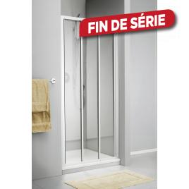 Porte pivotante de douche avec paroi lat rale 88 x 200 cm sealskin - Porte coulissante pour douche de 130 cm ...